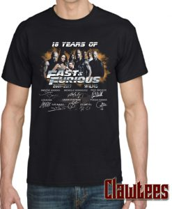 18 Years of Fast and Furious 2001 2019 Posh T Shirt