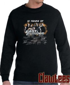 18 Years of Fast and Furious 2001 2019 Posh Sweatshirt