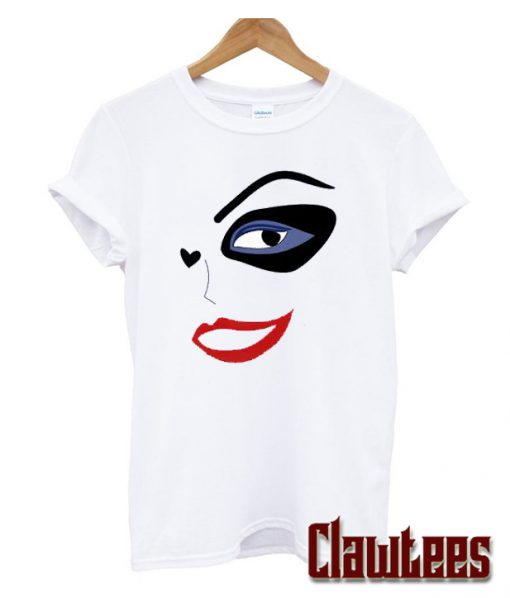 Harley Quinn Face Girl Posh T Shirt