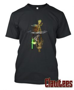 Baby Yoda and Baby Groot Water Reflection Posh T Shirt