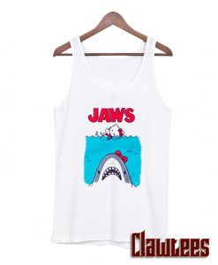 Hello Kitty Jaws Parody Posh Tanktop