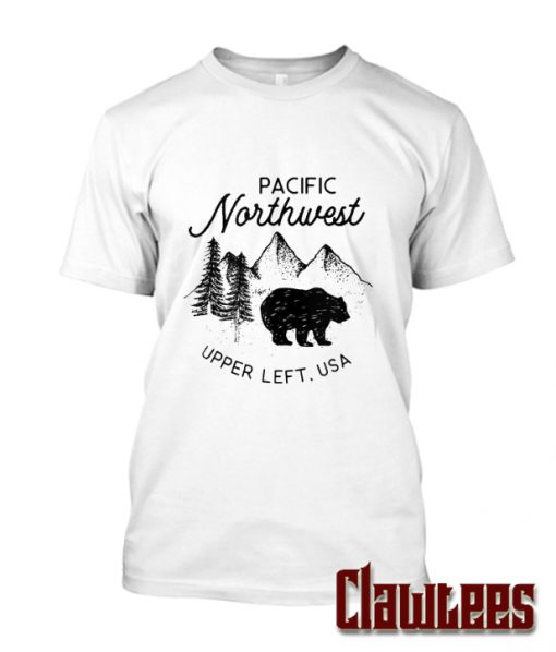 Pacific Northwest Upper Left USA Bear In Snow Posh T Shirt