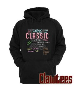 I love eating junk food and playin classic games Posh Hoodie