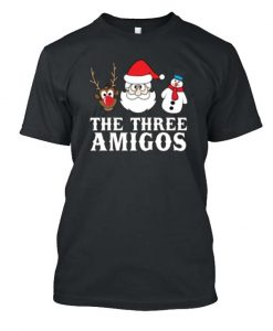 'The Three Amigos' Funny Christmas Brotherhood Posh T-Shirt