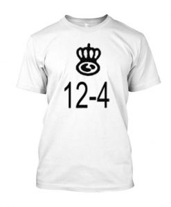 12-4 White Posh Graphic T Shirt